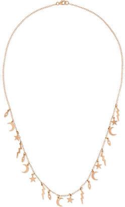 Andrea Fohrman Element 18-karat Rose Gold Diamond Necklace - one size