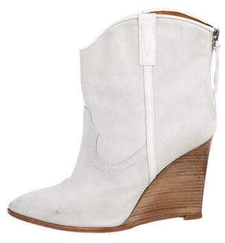 IRO Suede Wedge Boots