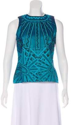 Zandra Rhodes Silk Printed Top