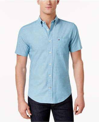 Tommy Hilfiger Men's Wainwright Custom-Fit Shirt $59.50 thestylecure.com