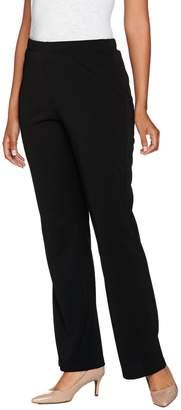 Susan Graver Petite Full Length Flare Pull-On Pants