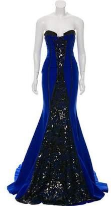 John Paul Ataker Strapless Mermaid Gown