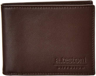 a. testoni Leather Bifold Wallet