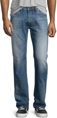Diesel Larkee L32 Faded Straight-Leg Jeans, Blue $125 thestylecure.com