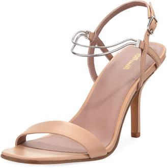 Diane von Furstenberg Frankie Leather Sandals with Chain Strap