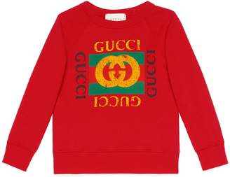 Children's sweatshirt with Gucci logo $230 thestylecure.com