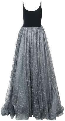 Christian Siriano glitter tulle detail dress