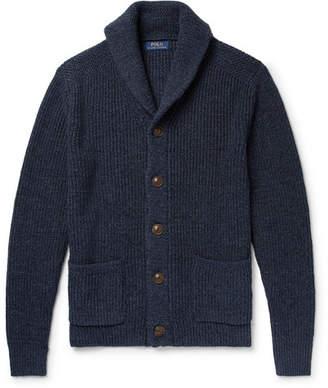 Polo Ralph Lauren Shawl-Collar Mélange Cotton and Linen-Blend Cardigan