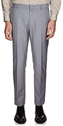 Prada Men's Striped-Side Wool-Mohair Trousers - Gray