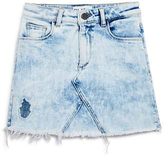 DL1961 Girls' Acid-Washed Denim Skirt - Big Kid
