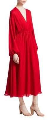 Elizabeth and James Norma Long Sleeve V-Neck Dress