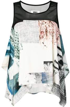 MM6 MAISON MARGIELA patchwork sleeveless top
