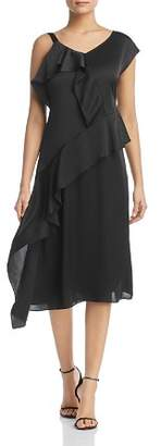 Nic+Zoe New Romantics Asymmetric Ruffle Dress