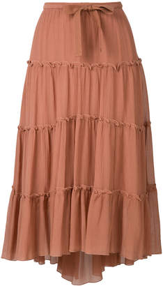 See by Chloe tiered midi skirt