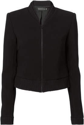Brandon Maxwell Double-Faced Cropped Bomber Jacket