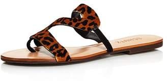 Schutz Women's Erzeli Leopard-Print Flat Sandals