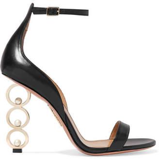 Aquazzura Anissa Kermiche So Anissa Leather Sandals - Black