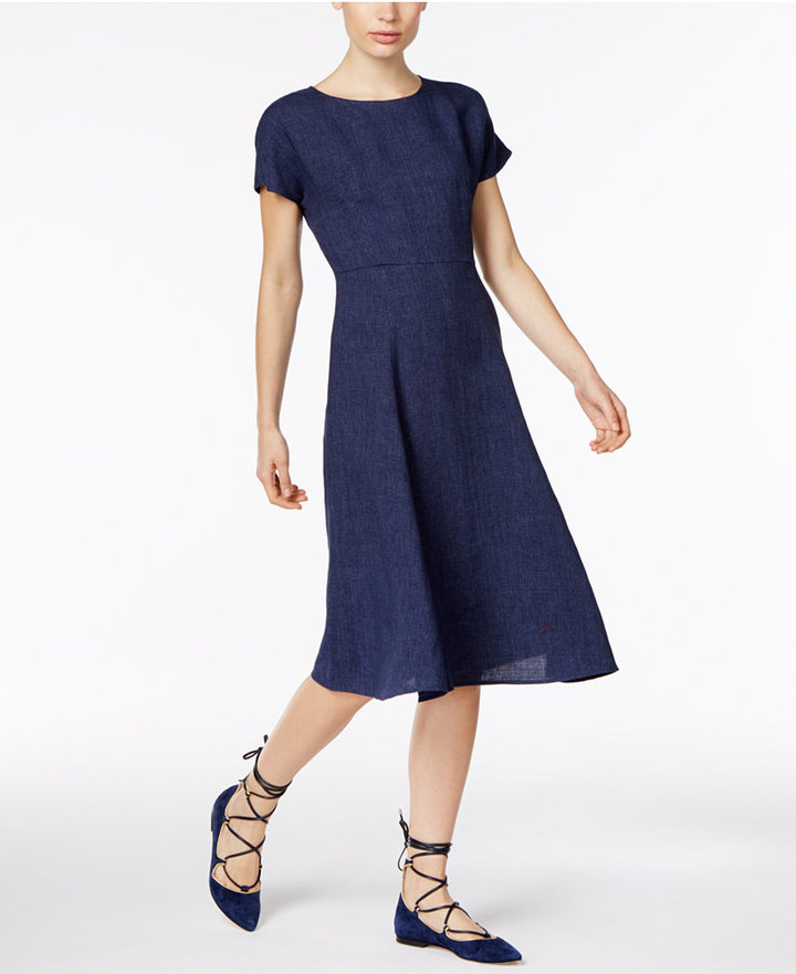 Max Mara Weekend Max Mara Oscura Linen Fit & Flare Dress