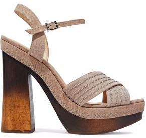 Schutz Alice Suede Platform Sandals