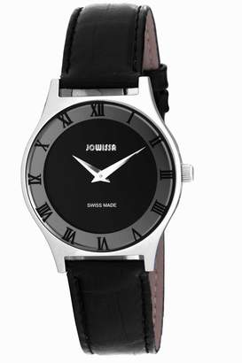 Jowissa Men's J4.076.L Costa Stainless Steel Leather Roman Numeral Watch
