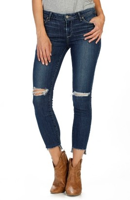 Women's Paige Verdugo Step Hem Ankle Skinny Jeans $239 thestylecure.com