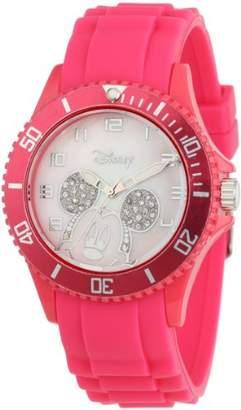 EWatchFactory Disney Women's W000589 Mickey Mouse Pink Silicone Strap Watch