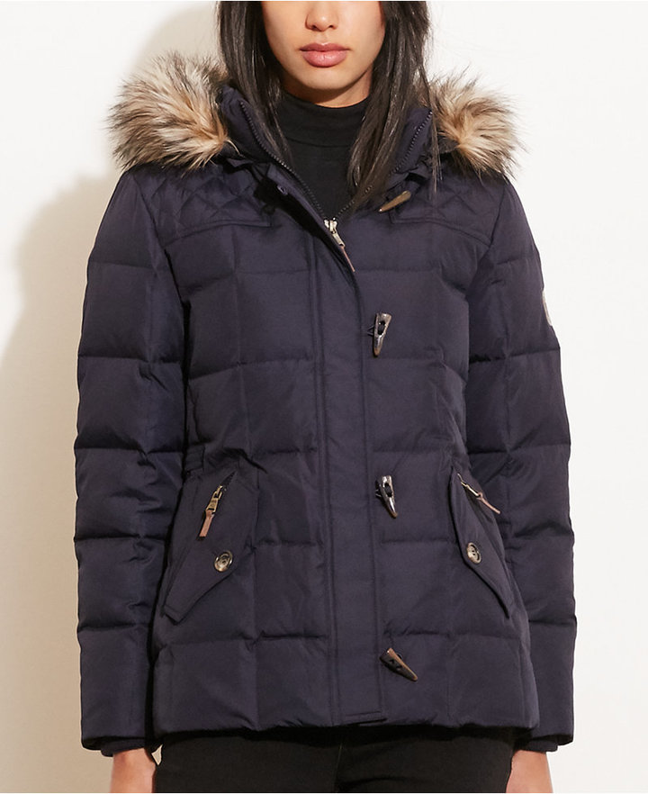 Lauren Ralph Lauren Lauren Ralph Lauren Petite Faux-Fur-Trim Quilted Toggle Jacket