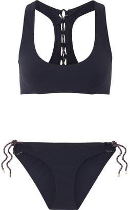 Stella McCartney Lacing Racer-back Bikini - Storm blue