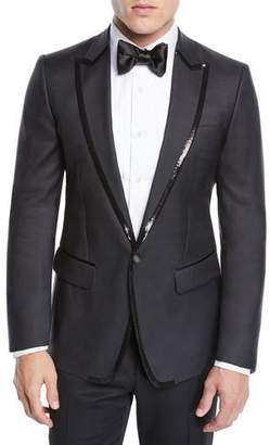 DSQUARED2 Men's Sequin Wool/Silk Tuxedo Jacket