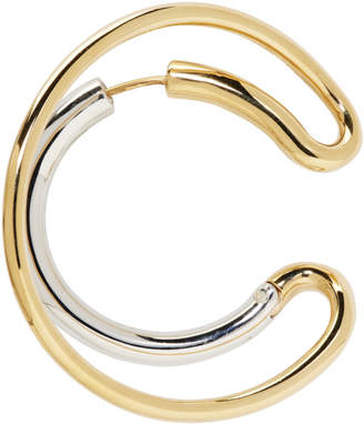 Charlotte Chesnais Gold and Silver Single Large Ego Earring