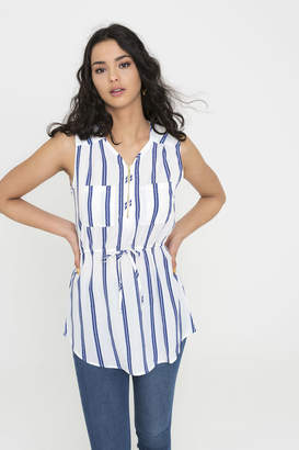 Ardene Semi-Sheer Striped Top