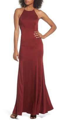 Jenny Yoo Naomi Luxe Crepe Halter Gown