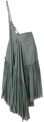 Hache flared maxi skirt