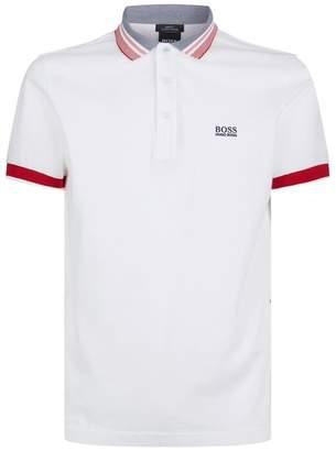 BOSS Oxford Stripe Polo Shirt