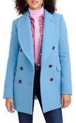 Women's J.crew Double Cloth Wool Double Breasted Coat $350 thestylecure.com