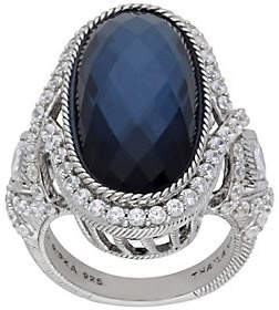 Judith Ripka Sterling Blue Doublet and Diamonique Ring