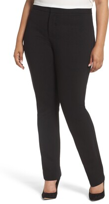 NYDJ Stretch Knit Straight Leg Trousers
