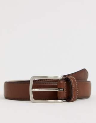 Ben Sherman leather belt in brown