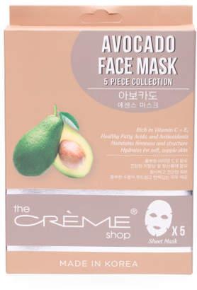 Made In Korea 5pk Avocado Face Masks