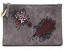 A.L.C. Women's Floral Leather Pouch