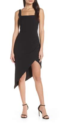 55cf8adfb0a Harlyn Square Neck Asymmetrical Cocktail Dress