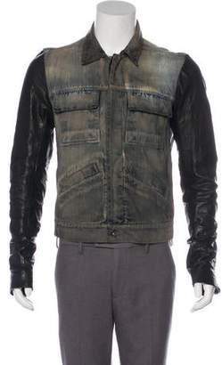 Rick Owens Distressed Denim Jacket