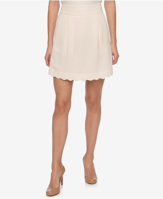 Tommy Hilfiger Scalloped A-Line Skirt $79 thestylecure.com