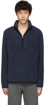 The North Face Navy Sherpa Dunraven 1/4 Zip Sweatshirt