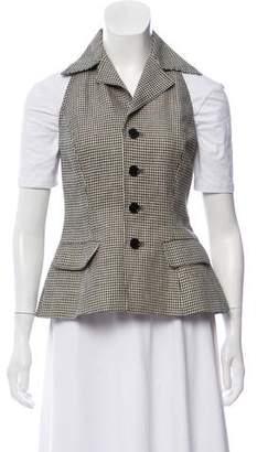 Ralph Lauren Linen Houndstooth Vest