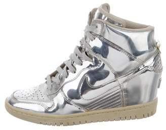 Nike Metallic Wedge Sneakers