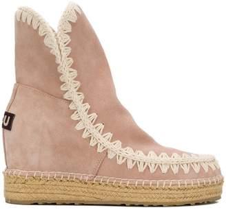 Mou woven boots