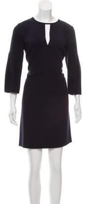 Burberry Three-Quarter Sleeve Mini Dress