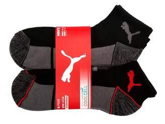 Puma Inc Men's Quarter Crew Low Cut Socks - 6 Pairs, Shoe Size 6-12