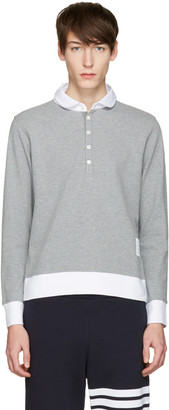 Thom Browne Grey Collection Polo $450 thestylecure.com